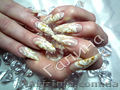 Наращивание ногтей гелем,  депиляция воском