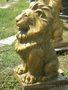 Садовая скульптура лев из бетона