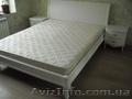 Кровать белая деревянная