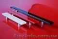 Стеклянные цветные ручки для фасадов и мебели